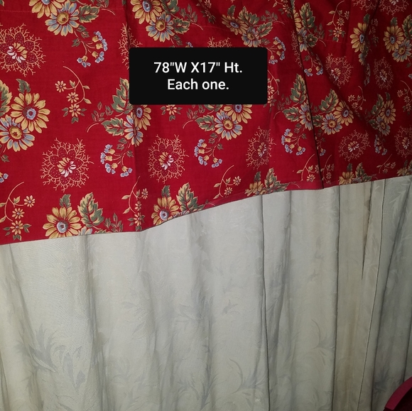 """Better Homes And Gardens Other - 2 Blouson Valances 78""""W x17""""H Each"""